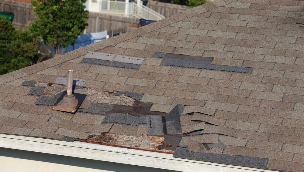 Wind damaged roof repair